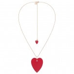 angèle jumbo coral heart on chain