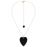 collier or rose 18 carats et onyx noirby Ginette NY