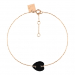 18 carat rose gold bracelet and black onyx by Ginette NY