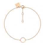 18 carat rose gold bracelet and white agateby Ginette NY