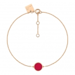 18 carat rose gold bracelet and red coralby Ginette NY