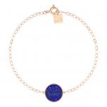bracelet or rose 18 carats et lapisby Ginette NY