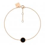 18 carat rose gold bracelet and black onyx by Ginette NY