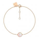 18 carat rose gold bracelet and pink MOP by Ginette NY
