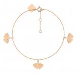 18 carat rose gold bangleby Ginette NY