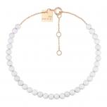 18 carat rose gold bracelet and white agateby Ginette NY
