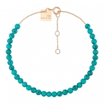18 carat rose gold bracelet and turquoise by Ginette NY