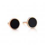 18 carat rose gold studs and black onyxby Ginette NY