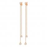 18 carat rose gold and diamonds studsby Ginette NY