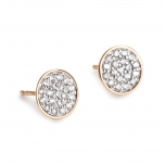 boucles d'oreilles or rose  18 carats et diamants   by Ginette NY