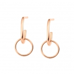 18 carat rose gold earringsby Ginette NY