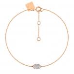 bracelet or rose 18 carats et diamantsby Ginette NY