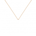 18 carat rose gold chain by Ginette NY