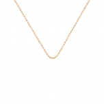 18 carat rose gold cut ball chain Ginette NY
