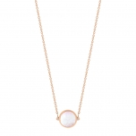 collier or rose 18 carats et nacre roseby Ginette NY