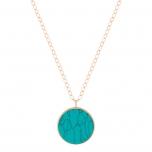 jumbo ever turquoise disc on chain