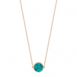 18 carat rose gold necklace and turquoiseby Ginette NY