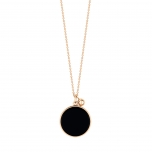 18 carat rose gold necklace with onyxby Ginette NY