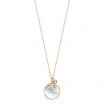 18 carat rose gold necklace and white MOP by Ginette NY