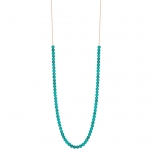 18 carat rose gold necklace and turquoise by Ginette NY