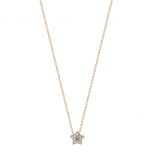 collier or rose 18 carats et diamantsby Ginette NY