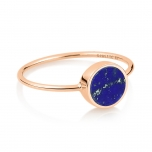 18 carat rose gold ring and lapis by Ginette NY