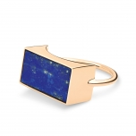 18 carat rose gold and lapis ring  Ginette NY