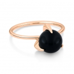 18 carat rose gold ring and black onyx by Ginette NY