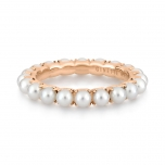 18 carat rose gold ring and pearls by Ginette NY
