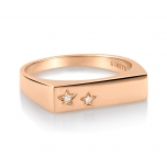 bague or rose 18 carats et diamantsby Ginette NY