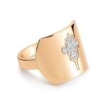 bague or rose 18 carats et diamants (0,05 ct) by Ginette NY