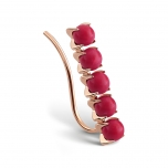 18 carat rose gold solo earring and red coral by Ginette NY