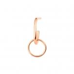 solo tiny circle drop earring