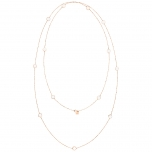 18 carat rose gold necklace and white agate by Ginette NY