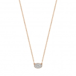 18 carat rose gold necklace and diamonds by Ginette NY