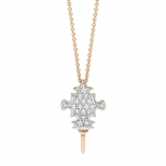 collier or rose 18 carats et diamants (0,09 ct) by Ginette NY