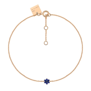 18 carat rose gold bracelet and sapphires<br>by Ginette NY
