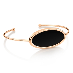 18 carat rose gold bracelet and black onyx <br>by Ginette NY