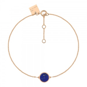 18 carat rose gold bracelet and lapis<br>by Ginette NY