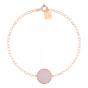 18 carat rose gold bracelet and pink MOP <br>by Ginette NY