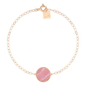 18 carat rose gold bracelet and rhodocrosite<br>by Ginette NY