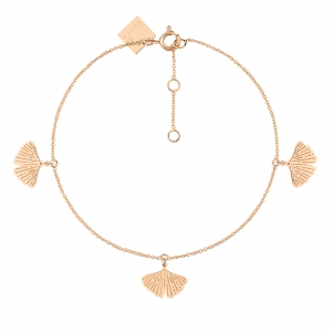 18 carat rose gold bangle<br>by Ginette NY