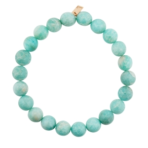 bracelet or rose 18 carats et amazonite<br>by Ginette NY