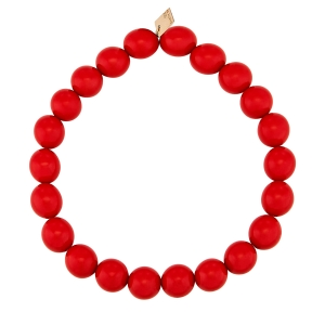 bracelet or rose 18 carats et corail rouge<br>by Ginette NY