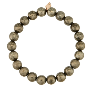 bracelet or rose 18 carats et pyrite<br>by Ginette NY