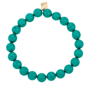 bracelet or rose 18 carats et turquoise<br>by Ginette NY