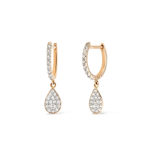 18 karat rose gold hoops and diamonds<br>by Ginette NY