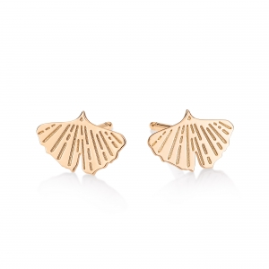 18 carat rose gold studs<br>by Ginette NY
