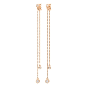 18 carat rose gold and diamonds studs<br>by Ginette NY