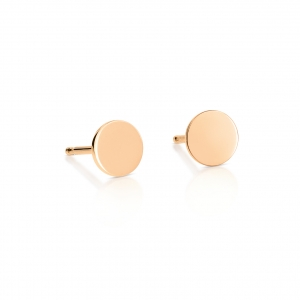 18 carat rose gold earrings<br>by Ginette NY